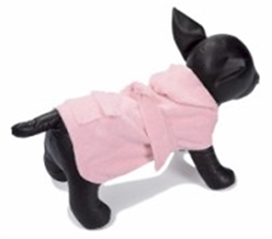 Dog Spa Bathrobe - Pink or White