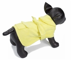 Dog Spa Bathrobe -Yellow
