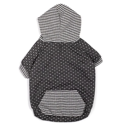 Dot/Stripe Hoodie - Gray kosher, hanukkah, toy, jewish, toy, puppy bed,  beds,dog mat, pet mat, puppy mat, fab dog pet sweater, dog swepet clothes, dog clothes, puppy clothes, pet store, dog store, puppy boutique store, dog boutique, pet boutique, puppy boutique, Bloomingtails, dog, small dog clothes, large dog clothes, large dog costumes, small dog costumes, pet stuff, Halloween dog, puppy Halloween, pet Halloween, clothes, dog puppy Halloween, dog sale, pet sale, puppy sale, pet dog tank, pet tank, pet shirt, dog shirt, puppy shirt,puppy tank, I see spot, dog collars, dog leads, pet collar, pet lead,puppy collar, puppy lead, dog toys, pet toys, puppy toy, dog beds, pet beds, puppy bed,  beds,dog mat, pet mat, puppy mat, fab dog pet sweater, dog sweater, dog winte