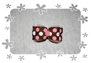 Dots on Brown Hair Bow dog bowls,susan lanci, puppia,wooflink, luxury dog boutique,tonimari,pet clothes, dog clothes, puppy clothes, pet store, dog store, puppy boutique store, dog boutique, pet boutique, puppy boutique, Bloomingtails, dog, small dog clothes, large dog clothes, large dog costumes, small dog costumes, pet stuff, Halloween dog, puppy Halloween, pet Halloween, clothes, dog puppy Halloween, dog sale, pet sale, puppy sale, pet dog tank, pet tank, pet shirt, dog shirt, puppy shirt,puppy tank, I see spot, dog collars, dog leads, pet collar, pet lead,puppy collar, puppy lead, dog toys, pet toys, puppy toy, dog beds, pet beds, puppy bed,  beds,dog mat, pet mat, puppy mat, fab dog pet sweater, dog sweater, dog winter, pet winter,dog raincoat, pet raincoat,
