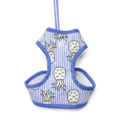 EasyGo Pineapple Dog Harness in Pink or Blue-Bloomingtails Dog Boutique 811c2d43fb99