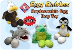Egg Babies Dog Toys - Various Characters