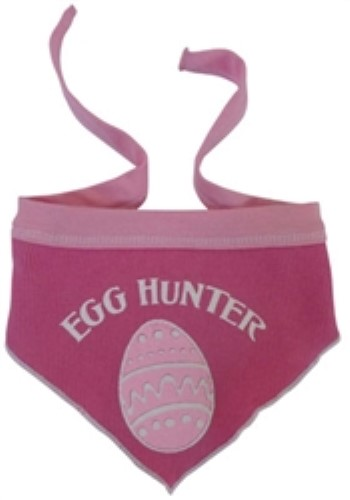 Egg Hunter Dog Scarf in Blue or Pink - iss-eggscarfBS-QPS