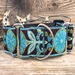 Extra Wide Boho Peacock Dog Collar-Personalizable  - diva-boholpeacockw