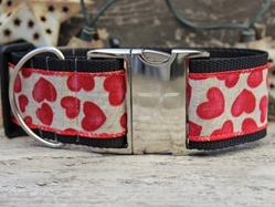 Extra Wide Humble Hearts Dog Collar-Personalizable wooflink, susan lanci, dog clothes, small dog clothes, urban pup, pooch outfitters, dogo, hip doggie, doggie design, small dog dress, pet clotes, dog boutique. pet boutique, bloomingtails dog boutique, dog raincoat, dog rain coat, pet raincoat, dog shampoo, pet shampoo, dog bathrobe, pet bathrobe, dog carrier, small dog carrier, doggie couture, pet couture, dog football, dog toys, pet toys, dog clothes sale, pet clothes sale, shop local, pet store, dog store, dog chews, pet chews, worthy dog, dog bandana, pet bandana, dog halloween, pet halloween, dog holiday, pet holiday, dog teepee, custom dog clothes, pet pjs, dog pjs, pet pajamas, dog pajamas,dog sweater, pet sweater, dog hat, fabdog, fab dog, dog puffer coat, dog winter jacket, dog col