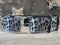 Extra Wide Midnight Leopard Dog Collar-Personalizable  wooflink, susan lanci, dog clothes, small dog clothes, urban pup, pooch outfitters, dogo, hip doggie, doggie design, small dog dress, pet clotes, dog boutique. pet boutique, bloomingtails dog boutique, dog raincoat, dog rain coat, pet raincoat, dog shampoo, pet shampoo, dog bathrobe, pet bathrobe, dog carrier, small dog carrier, doggie couture, pet couture, dog football, dog toys, pet toys, dog clothes sale, pet clothes sale, shop local, pet store, dog store, dog chews, pet chews, worthy dog, dog bandana, pet bandana, dog halloween, pet halloween, dog holiday, pet holiday, dog teepee, custom dog clothes, pet pjs, dog pjs, pet pajamas, dog pajamas,dog sweater, pet sweater, dog hat, fabdog, fab dog, dog puffer coat, dog winter jacket, dog col