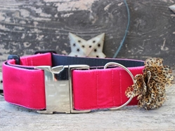 Extra Wide Pamela Dog Collar-Personalizable  wooflink, susan lanci, dog clothes, small dog clothes, urban pup, pooch outfitters, dogo, hip doggie, doggie design, small dog dress, pet clotes, dog boutique. pet boutique, bloomingtails dog boutique, dog raincoat, dog rain coat, pet raincoat, dog shampoo, pet shampoo, dog bathrobe, pet bathrobe, dog carrier, small dog carrier, doggie couture, pet couture, dog football, dog toys, pet toys, dog clothes sale, pet clothes sale, shop local, pet store, dog store, dog chews, pet chews, worthy dog, dog bandana, pet bandana, dog halloween, pet halloween, dog holiday, pet holiday, dog teepee, custom dog clothes, pet pjs, dog pjs, pet pajamas, dog pajamas,dog sweater, pet sweater, dog hat, fabdog, fab dog, dog puffer coat, dog winter jacket, dog col