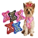 Fabric Print w/Mesh Lining Wrap and Snap - dogdes-fabric-harness