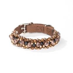 Fabuleash Beaded Dog Collar in Leopard
