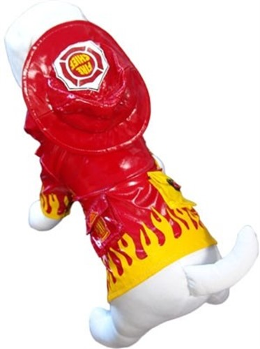 Fire Chief Dog Raincoat - ccc-fireman-coat