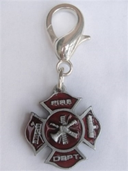 Fireman Maltese Cross Dog Charm