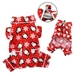 Flannel Penguins Dog Pajamas in Red or Blue - klip-penguin-pj