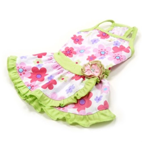 Floral Summer Dog Dress - dgo-floralX-KGY