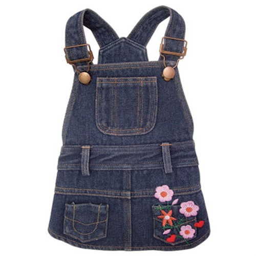 Flower Denim Dress - klip-denim-dress