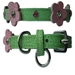 Flower Leather Collar - Green & Pink Leather - ccc-flr-greenX-BJS