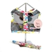 Flower Print Netted Dog Harness & Leash - dogdes-flower-harnessX-1ZE
