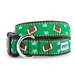 Football Field Dog Collar & Lead     - wd-football-collar