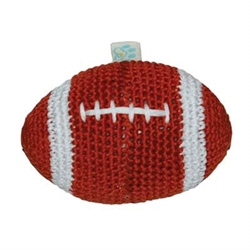 Football Knit Cotton  Squeaker Chew Toy