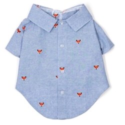 Foxy Chambray Shirt  wooflink, susan lanci, dog clothes, small dog clothes, urban pup, pooch outfitters, dogo, hip doggie, doggie design, small dog dress, pet clotes, dog boutique. pet boutique, bloomingtails dog boutique, dog raincoat, dog rain coat, pet raincoat, dog shampoo, pet shampoo, dog bathrobe, pet bathrobe, dog carrier, small dog carrier, doggie couture, pet couture, dog football, dog toys, pet toys, dog clothes sale, pet clothes sale, shop local, pet store, dog store, dog chews, pet chews, worthy dog, dog bandana, pet bandana, dog halloween, pet halloween, dog holiday, pet holiday, dog teepee, custom dog clothes, pet pjs, dog pjs, pet pajamas, dog pajamas,dog sweater, pet sweater, dog hat, fabdog, fab dog, dog puffer coat, dog winter jacket, dog col