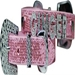 Foxy Glitz Two Tier Dog Collar and Matching Lead - ccc-glitztwotier-collar