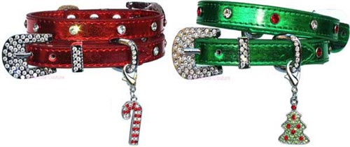 Foxy Metallic Christmas Tree Crystal Charm Dog Collar wooflink, susan lanci, dog clothes, small dog clothes, urban pup, pooch outfitters, dogo, hip doggie, doggie design, small dog dress, pet clotes, dog boutique. pet boutique, bloomingtails dog boutique, dog raincoat, dog rain coat, pet raincoat, dog shampoo, pet shampoo, dog bathrobe, pet bathrobe, dog carrier, small dog carrier, doggie couture, pet couture, dog football, dog toys, pet toys, dog clothes sale, pet clothes sale, shop local, pet store, dog store, dog chews, pet chews, worthy dog, dog bandana, pet bandana, dog halloween, pet halloween, dog holiday, pet holiday, dog teepee, custom dog clothes, pet pjs, dog pjs, pet pajamas, dog pajamas,dog sweater, pet sweater, dog hat, fabdog, fab dog, dog puffer coat, dog winter jacket, dog col