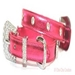Foxy Metallic Jewel Dog Collar - Hot Pink - ccc-hpjewel-collarX-MB8