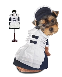 French Maid Holloween Costume  dog bowls,susan lanci, puppia,wooflink, luxury dog boutique,tonimari,pet clothes, dog clothes, puppy clothes, pet store, dog store, puppy boutique store, dog boutique, pet boutique, puppy boutique, Bloomingtails, dog, small dog clothes, large dog clothes, large dog costumes, small dog costumes, pet stuff, Halloween dog, puppy Halloween, pet Halloween, clothes, dog puppy Halloween, dog sale, pet sale, puppy sale, pet dog tank, pet tank, pet shirt, dog shirt, puppy shirt,puppy tank, I see spot, dog collars, dog leads, pet collar, pet lead,puppy collar, puppy lead, dog toys, pet toys, puppy toy, dog beds, pet beds, puppy bed,  beds,dog mat, pet mat, puppy mat, fab dog pet sweater, dog sweater, dog winter, pet winter,dog raincoat, pet raincoat,