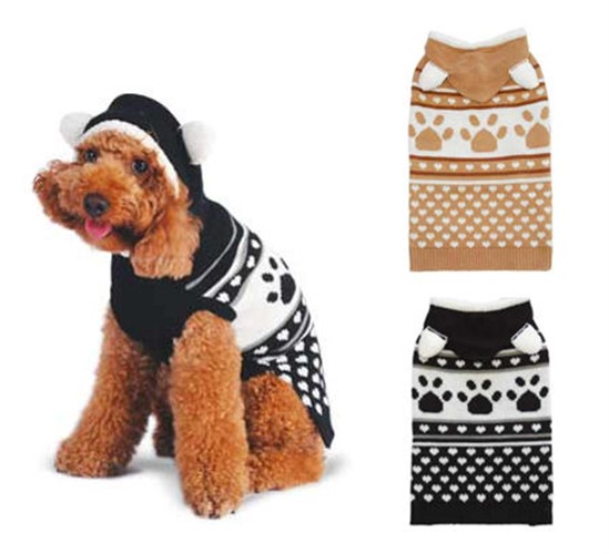 Fuzzy Animal Sweater - Black - dogo-animalBX-C85
