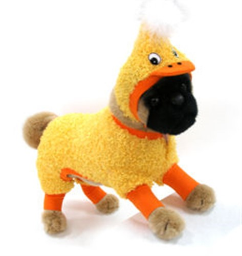 Fuzzy Duck Dog Costume - dogdes-duck-costumeX-XFS