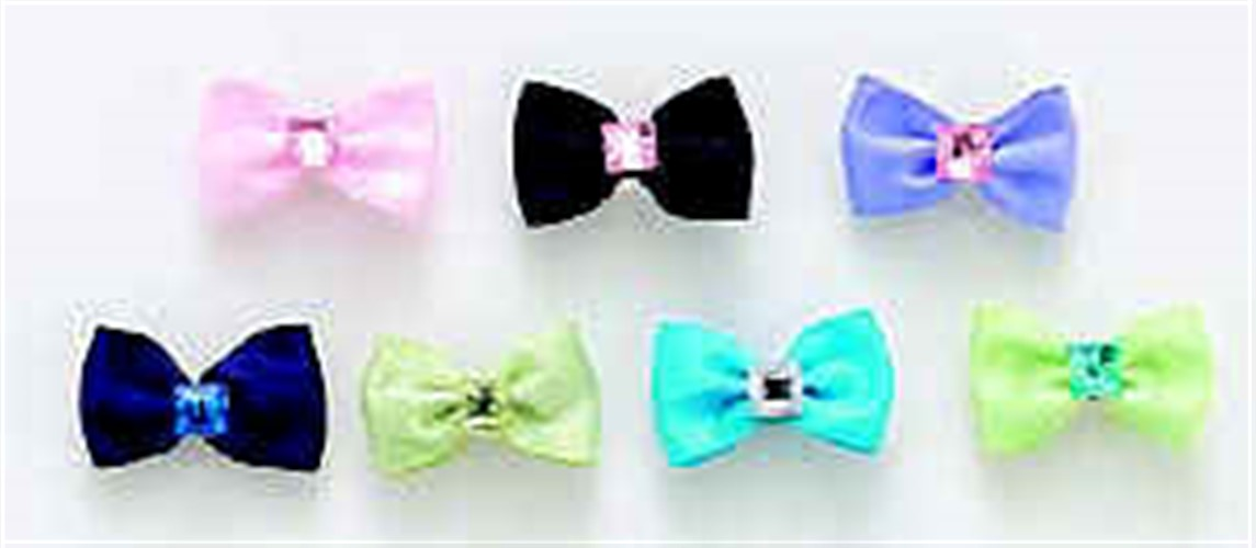 Gemstone Center Dog Hair Bows
