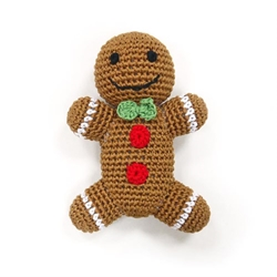 Gingerbread Man Crochet Squeaky Toy   Roxy & Lulu, wooflink, susan lanci, dog clothes, small dog clothes, urban pup, pooch outfitters, dogo, hip doggie, doggie design, small dog dress, pet clotes, dog boutique. pet boutique, bloomingtails dog boutique, dog raincoat, dog rain coat, pet raincoat, dog shampoo, pet shampoo, dog bathrobe, pet bathrobe, dog carrier, small dog carrier, doggie couture, pet couture, dog football, dog toys, pet toys, dog clothes sale, pet clothes sale, shop local, pet store, dog store, dog chews, pet chews, worthy dog, dog bandana, pet bandana, dog halloween, pet halloween, dog holiday, pet holiday, dog teepee, custom dog clothes, pet pjs, dog pjs, pet pajamas, dog pajamas,dog sweater, pet sweater, dog hat, fabdog, fab dog, dog puffer coat, dog winter ja