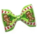 Gingerbread Man Dog Hair Bow - cc-gingerbreadB-8U4