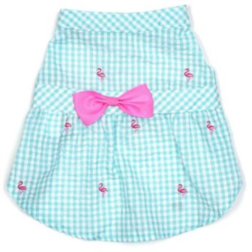 Gingham Flamingos Dress  - wd-ginflamingosdress