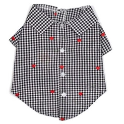Gingham Heart Shirt wooflink, susan lanci, dog clothes, small dog clothes, urban pup, pooch outfitters, dogo, hip doggie, doggie design, small dog dress, pet clotes, dog boutique. pet boutique, bloomingtails dog boutique, dog raincoat, dog rain coat, pet raincoat, dog shampoo, pet shampoo, dog bathrobe, pet bathrobe, dog carrier, small dog carrier, doggie couture, pet couture, dog football, dog toys, pet toys, dog clothes sale, pet clothes sale, shop local, pet store, dog store, dog chews, pet chews, worthy dog, dog bandana, pet bandana, dog halloween, pet halloween, dog holiday, pet holiday, dog teepee, custom dog clothes, pet pjs, dog pjs, pet pajamas, dog pajamas,dog sweater, pet sweater, dog hat, fabdog, fab dog, dog puffer coat, dog winter jacket, dog col