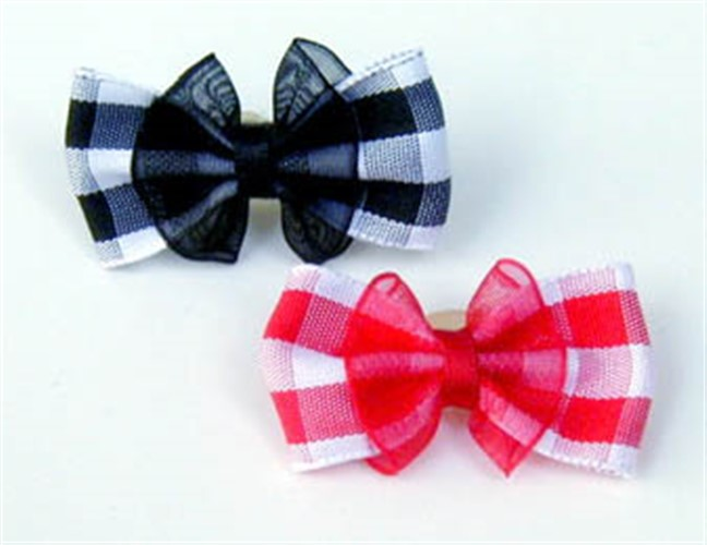 Gingham & Organza Dog Hair Bows