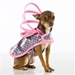 Gray & Pink Dog Raincoats  - push-graypinkT-ACR