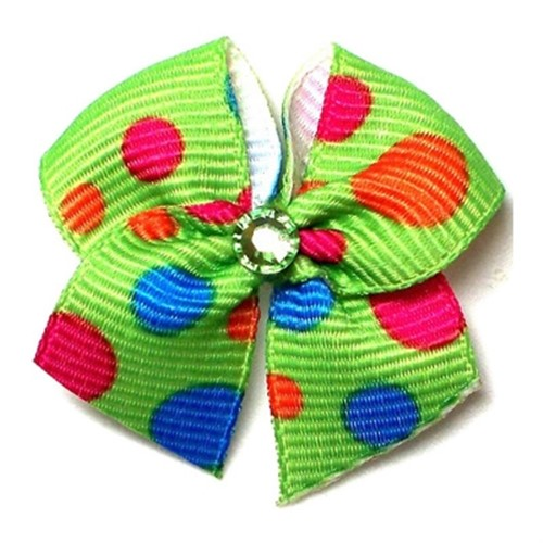 Green Bubbles Dog Groomer Bow - cc-groomer-bubbles