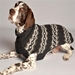 Grey Diamonds Dog Sweater    - cd-diamonds-sweater