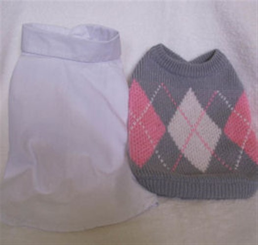 Grey & Pink Argyle Sweater Vest Set - pure-argyle-vest