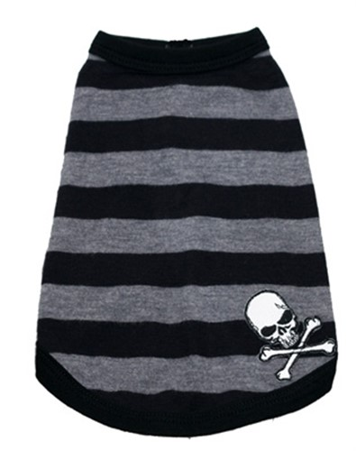 Grey Striped Skull Tank - hip-skull-tankX-5MZ