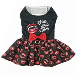Halloween Harness Dress - Girls Bite Back beds, puppy bed,  beds,dog mat, pet mat, puppy mat, fab dog pet sweater, dog swepet clothes, dog clothes, puppy clothes, pet store, dog store, puppy boutique store, dog boutique, pet boutique, puppy boutique, Bloomingtails, dog, small dog clothes, large dog clothes, large dog costumes, small dog costumes, pet stuff, Halloween dog, puppy Halloween, pet Halloween, clothes, dog puppy Halloween, dog sale, pet sale, puppy sale, pet dog tank, pet tank, pet shirt, dog shirt, puppy shirt,puppy tank, I see spot, dog collars, dog leads, pet collar, pet lead,puppy collar, puppy lead, dog toys, pet toys, puppy toy, dog beds, pet beds, puppy bed,  beds,dog mat, pet mat, puppy mat, fab dog pet sweater, dog sweater, dog winter, pet winter,dog raincoat, pe