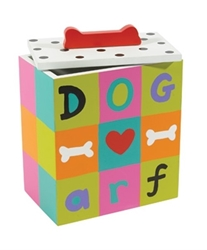 Hand Painted Dog Treat Box - Arf Roxy & Lulu, wooflink, susan lanci, dog clothes, small dog clothes, urban pup, pooch outfitters, dogo, hip doggie, doggie design, small dog dress, pet clotes, dog boutique. pet boutique, bloomingtails dog boutique, dog raincoat, dog rain coat, pet raincoat, dog shampoo, pet shampoo, dog bathrobe, pet bathrobe, dog carrier, small dog carrier, doggie couture, pet couture, dog football, dog toys, pet toys, dog clothes sale, pet clothes sale, shop local, pet store, dog store, dog chews, pet chews, worthy dog, dog bandana, pet bandana, dog halloween, pet halloween, dog holiday, pet holiday, dog teepee, custom dog clothes, pet pjs, dog pjs, pet pajamas, dog pajamas,dog sweater, pet sweater, dog hat, fabdog, fab dog, dog puffer coat, dog winter ja