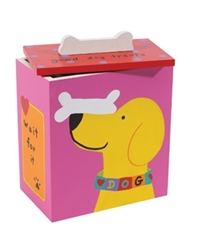 Hand Painted Dog Treat Box - Wait For It Roxy & Lulu, wooflink, susan lanci, dog clothes, small dog clothes, urban pup, pooch outfitters, dogo, hip doggie, doggie design, small dog dress, pet clotes, dog boutique. pet boutique, bloomingtails dog boutique, dog raincoat, dog rain coat, pet raincoat, dog shampoo, pet shampoo, dog bathrobe, pet bathrobe, dog carrier, small dog carrier, doggie couture, pet couture, dog football, dog toys, pet toys, dog clothes sale, pet clothes sale, shop local, pet store, dog store, dog chews, pet chews, worthy dog, dog bandana, pet bandana, dog halloween, pet halloween, dog holiday, pet holiday, dog teepee, custom dog clothes, pet pjs, dog pjs, pet pajamas, dog pajamas,dog sweater, pet sweater, dog hat, fabdog, fab dog, dog puffer coat, dog winter ja