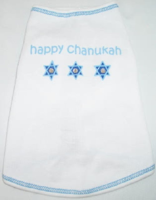 Happy Chanukah Dog Tee Shirt - iss-chanukahX-ELQ
