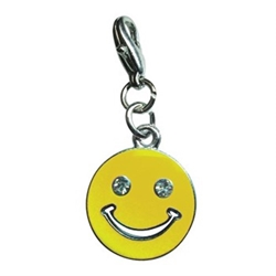 Happy Face Dog Charm in Many Colors