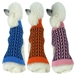 Harmonious Dual Color Weaved Heavy Cable Knit Designer Dog Sweater  - petlife-harmonious-sweater