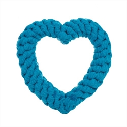 Heart Rope Dog Toy in Various Colors