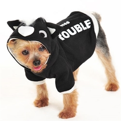 Here Comes Trouble - Skunk Mohawk Dog Hoodie