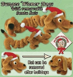 Holiday Bungee Weiner Dog