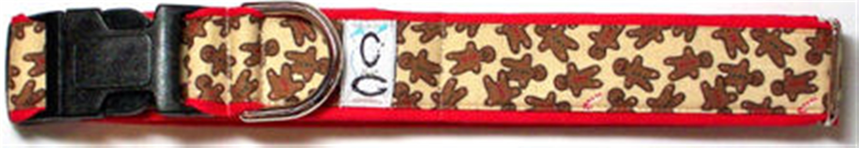 Holiday Gingerbread Men Dog Collar